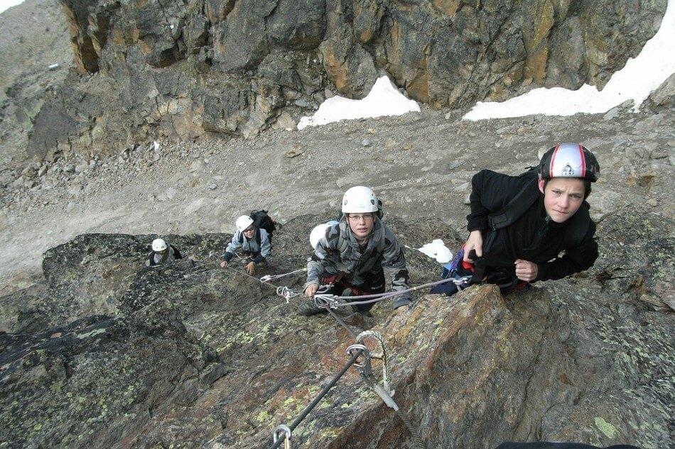 Klettersteig Jägihorn : Klettersteig jägihorn u sac saas