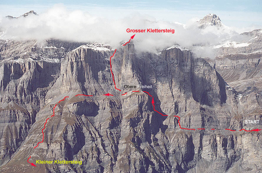 Klettersteig Leukerbad : Klettersteig daubenhorn u sac saas