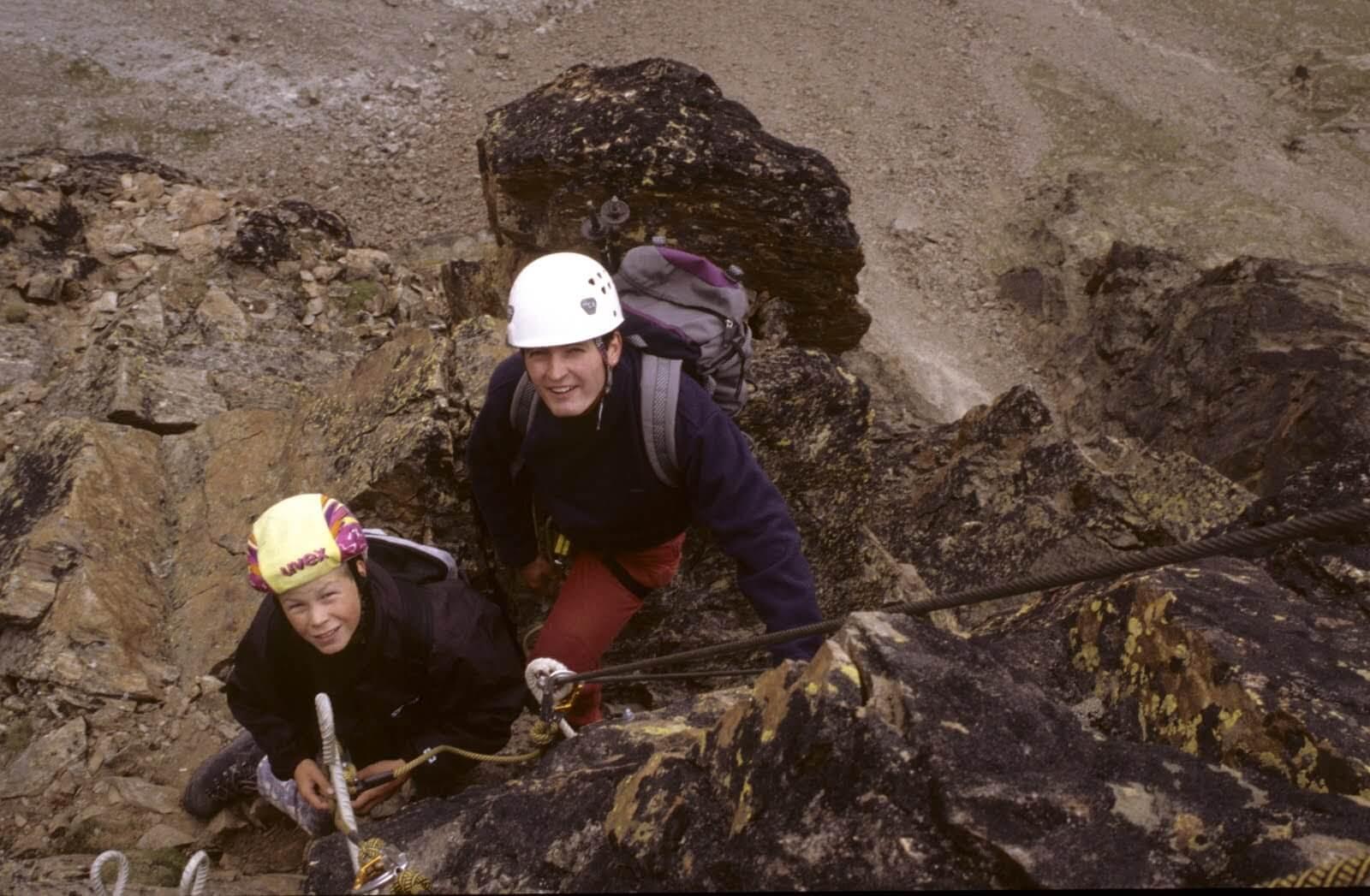 Klettersteig Jegihorn : 31.08.2000 klettersteig jegihorn eingerichtet u2013 sac saas