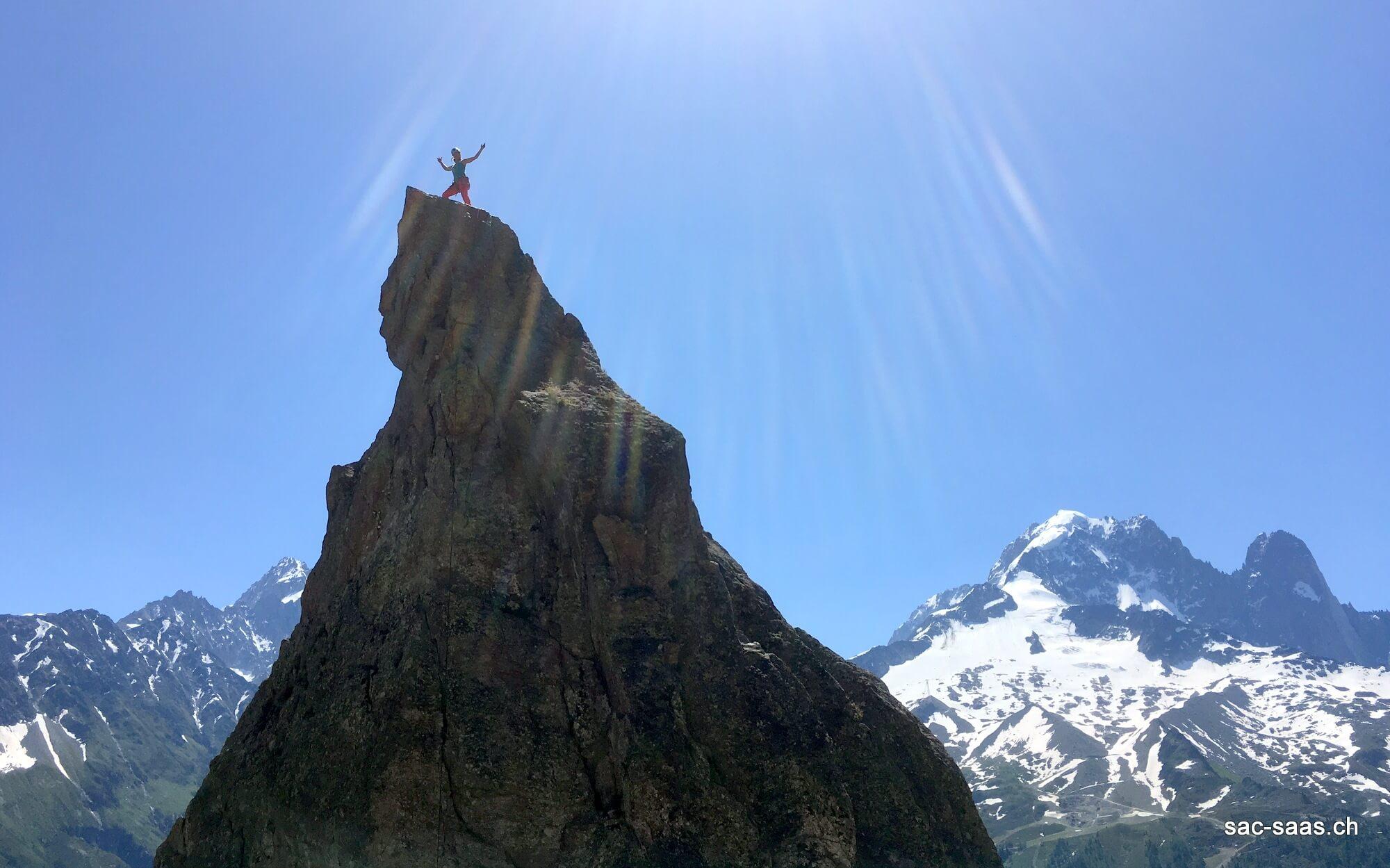Klettersteig Chamonix : Klettern in chamonix u sac saas