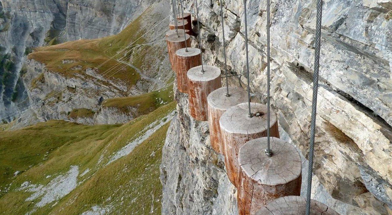 Klettersteig Leukerbad : Via ferrata daubenhorn m klettersteig leukerbad youtube