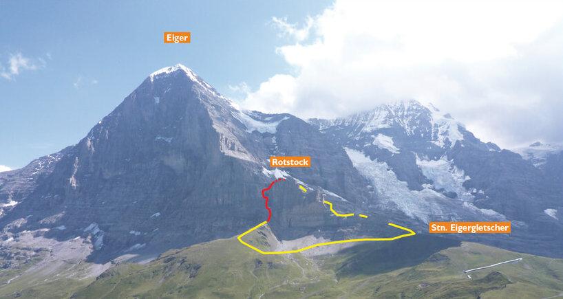 Klettersteig Map : Klettersteig rotstock eiger u sac saas